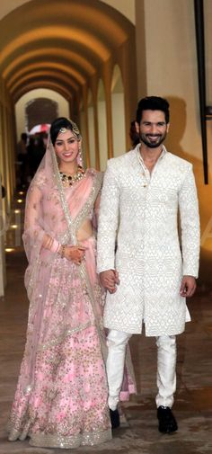 Meet Mr and Mrs Kapoor: Shahid and Mira's first snap as a couple Bollywood Couples, Bollywood Wedding, Bollywood Fashion, Wedding Looks, Bridal Looks, Shahid Kapoor Wedding, Celebrity Weddings, Celebrity Style, Celebrity Couples