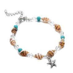 Bracelet de cheville en forme de plume turquoise boh/émienne double couche pendentif breloques femme argent