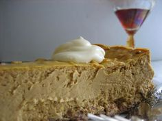Low Carb Pumpkin Cheesecake - makes 12 slices, 6 net carbs/6 grams of protein per slice!! DONE AND DONE.