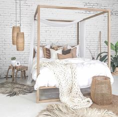 Home & Deco - Bedroom Inspiration Natur Dream Bedroom, Home Bedroom, Bedroom Decor, Lofted Bedroom, Bedroom Furniture, Design Bedroom, Furniture Decor, Furniture Design, Bedroom Inspo