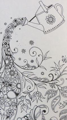 Colour it, sew it, trace it, etc. Secret Garden by Johanna Basford