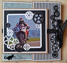 De kaarten van ons Mam: Have a fantastic day 3d Cards, Garland, Happy Birthday, Greeting Cards, Frame, Van, Motorbikes, Man Card, Paper