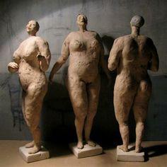 Anna Kozłowska- Łuc Human Sculpture, Sculpture Art, Stream Of Consciousness, Clay Figures, Figurative Art, Art And Architecture, Ceramic Art, Graffiti, Portrait