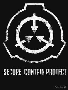 The symbol of the SCP foundation. If you're fan of the foundation then this is the right design for you. Secure. Contain. Protect