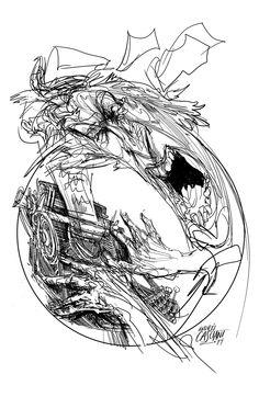 """""""Círculos"""" ilustración de Andrés Casciani para el libro """"Minificciones"""" de Paulo Neo - digital, 2014/ http://andrescasciani.com/"""