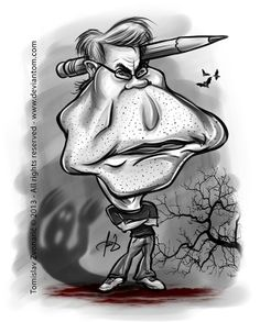 Stephen King by Deviantom  Caricature of Stephen King all rights reserved Tomislav Zvonaric - Deviantom 2013