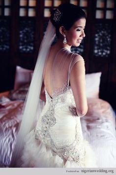 Nigerian Wedding: Exquiste Wedding Gowns With Excellent Craftmanship By Veluz Reyez |