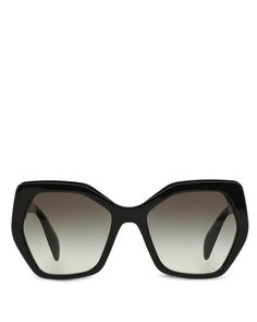 Prada Oversized Geometric Sunglasses, 56mm | Made in Italy | 100% UV protection | Logo at sides | 56 mm lens width | Web ID:1284309