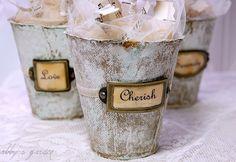 decorated peat pots