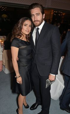 Pin for Later: Seht die Stars in ihren schönsten Roben beim Filmfest in Cannes Salma Hayek und Jake Gyllenhaal