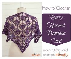 Time for another pattern tutorial! And at your request, I've put together a video tutorial and chart - here's the Berry Harvest Bandana Cowl tutorial!