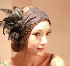 Sweet Elegant Style Lace Feather Embellished Rose Shape Hair Band For Women (AS THE PICTURE), Hair accessories - fashiondresswholesale.com