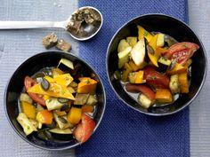 Kürbis-Auberginen-Gemüse
