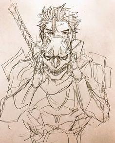 Genji Oni Skin, Really Fun Games, Genji Shimada, Drawing Skills, Drawing Tips, You Draw, Cute Art, Character Art, Samurai