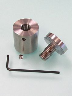 """1"""" Dia. THROUGH STAINLESS STEEL STANDOFF - LOCKING. Brushed Stainless"""