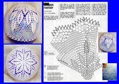 Bombki szydełkowe = Schematy = Wzór ..... Crochet Lamp, Thread Crochet, Crochet Motif, Diy Crochet, Crochet Doilies, Star Quilt Patterns, Doily Patterns, Crochet Patterns, Crochet Christmas Ornaments