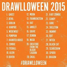 October Halloween Drawing Challenge 2015 (because I need to start drawing again)