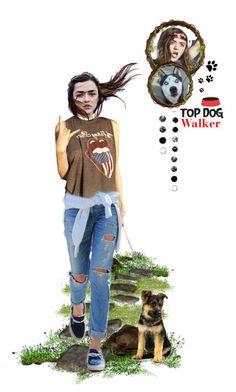 """Modern Stark - Arya Stark - Dog Walker"" by girlinthebigbox ❤ liked on Polyvore featuring art and modern"