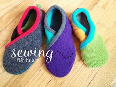 INSTANT DOWNLOAD - Upcycled Crossover Slippers- PDF Pattern Sizes: Youth 13,1-3  Women 4-11  Men 3-10
