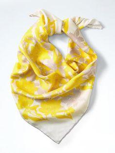 Floral Silk Medium Square Scarf