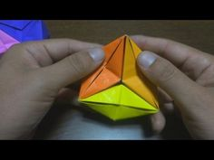 How to make a Сolor Star Holes Kusudama Origami (PHiZZ Unit Tom Hull) - YouTube