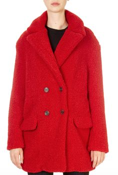 This is the 'Pien' Red Teddy Faux Fur Jacket by our friends at Rino & Pelle! The Teddy Coat is a perfect piece to keep you warm and cosy this season. This on-trend piece features a V-neck collar that comes down to a double breasted button fastening and is finished with two flap pockets on the front. Teddy Coat, Winter Coats Women, Faux Fur Jacket, Neck Collar, Double Breasted, Shop Now, Cosy, Red, Jackets