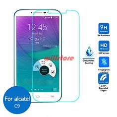 Tempered Glass Screen Protector Film Case for Alcatel One Touch Pop C3 C5 C7 C9 Idol. Click visit to buy