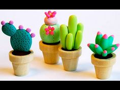 How To Make Play Doh Cactus - YouTube
