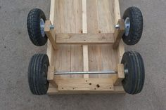 6 Wheel Garden Wagon 6 Wheel Garden Wagon : 5 Steps (with Pictures) - Instructables Garden Wagon, Garden Cart, Furniture Dolly, Wood Furniture, Wooden Projects, Wood Crafts, Lawn Tractor Trailer, Wheelbarrow Wheels, Fishing Cart