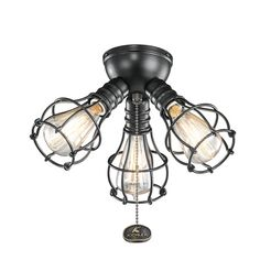 Crazy wonderful diy cage light ceiling fan crazy wonderful blog kichler industrial 3 light ceiling fan light kit reviews wayfair aloadofball Image collections