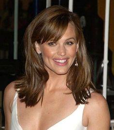 bangs Jennifer Garner...love her hair color here!