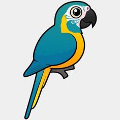 Cute Birdorable Blue-throated Macaw, also known as Caninde Macaw or Wagler's Macaw, in Parrots & Parakeets. The lovely Blue-throated Macaw is a large species