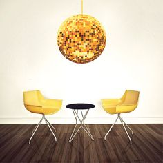 Gold Disco Ball Decal - Studio 54 Party Decoration - Primedecals