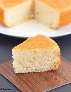Eggless Vanilla Sponge Cake - No Condensed Milk, No Butter - Recipe with Step by Step Photos