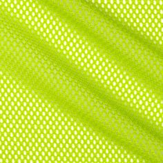 Mod Stretch Mesh Lime from @fabricdotcom  This mesh knit fabric features lofty fibers, open holes, and mechanical four way stretch- about 15%. It is perfect for creating mesh tops, tanks, activewear jerseys, laundry bags and more.