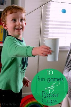 Ten Fun Games with Paper Cups - One Perfect Day