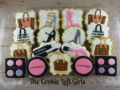 makeup and fashion cookies
