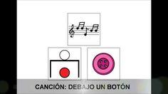 Canción Debajo un botón (con pictogramas ARASAAC)