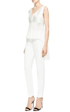 Antonio Berardi White Organza Sleeveless Blouse by ANTONIO BERARDI for Preorder on Moda Operandi