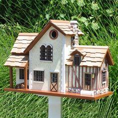 Home Bazaar HBK-1002 The Queen's Hamlet French Country Bird House - Bird House Showroom