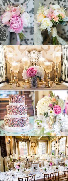 Pink wedding reception idea; photo: Olive Photography
