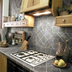 Ceramic Tile Kitchen Countertop - porcelain tile kitchen countertop...alternative to granite?
