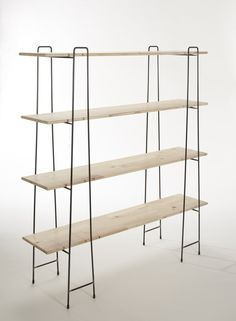 A free standing shelving unit achieves a minimal look, which is honest to its materials and usage. Adjustable and flat packable characterist...