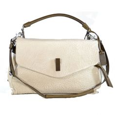 Fabulous Joy Gryson Handbag in Italian bone leather with coffee colored accents. The is everyday luxury!