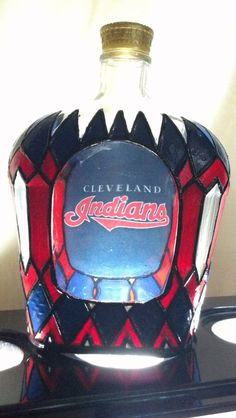 Cleveland Indians Crown Royal Whisky Glass by PattiesPassion, $75.00