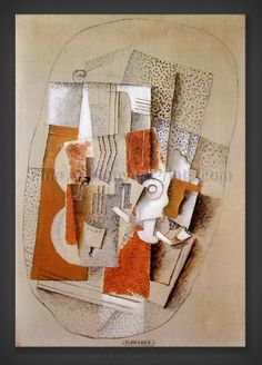 Georges Braque: Music 1914 from fineartcanvasprints Georges Braque, Pablo Picasso, Picasso And Braque, Synthetic Cubism, Cubist Art, Tate Gallery, Cleveland Museum Of Art, Gcse Art, Traditional Art