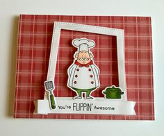 This card was created by : Didedi's Crafty Corner using MY FAVORITE THINGS Recipe for happiness stamps and Country Fair Plad paper.