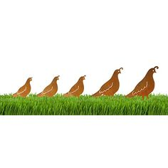 Look what I found at UncommonGoods: Quail Set Garden Sculpture for $45 #uncommongoods