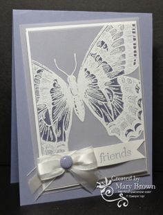 Really liking butterfly cards this year!
