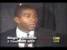 """On this day in 1991, basketball legend Earvin """"Magic"""" Johnson stuns the world by announcing his sudden retirement from the Los Angeles Lakers, after testing positive for HIV, the virus that causes AIDS. At the time, many Americans viewed AIDS as a gay white man's disease. Johnson (1959- ), who is African American and heterosexual, was one of the first sports stars to go public about his HIV-positive status."""